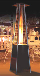 outdoor flame heater